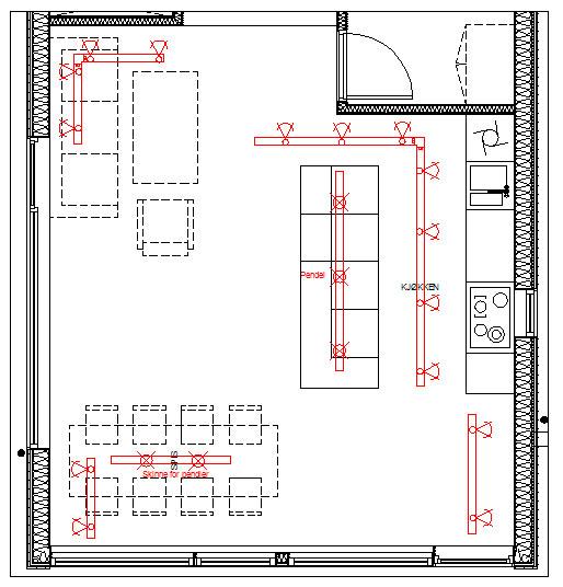 Belysningsplan stue 2