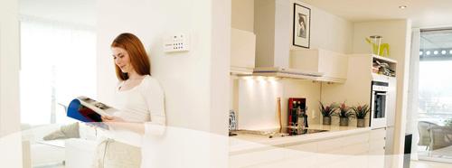 Dame og nyoppusset kjøkken