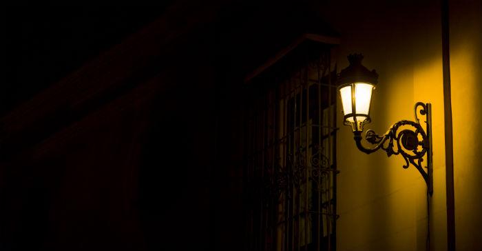 Bevegelsesstyrt lys utendørs